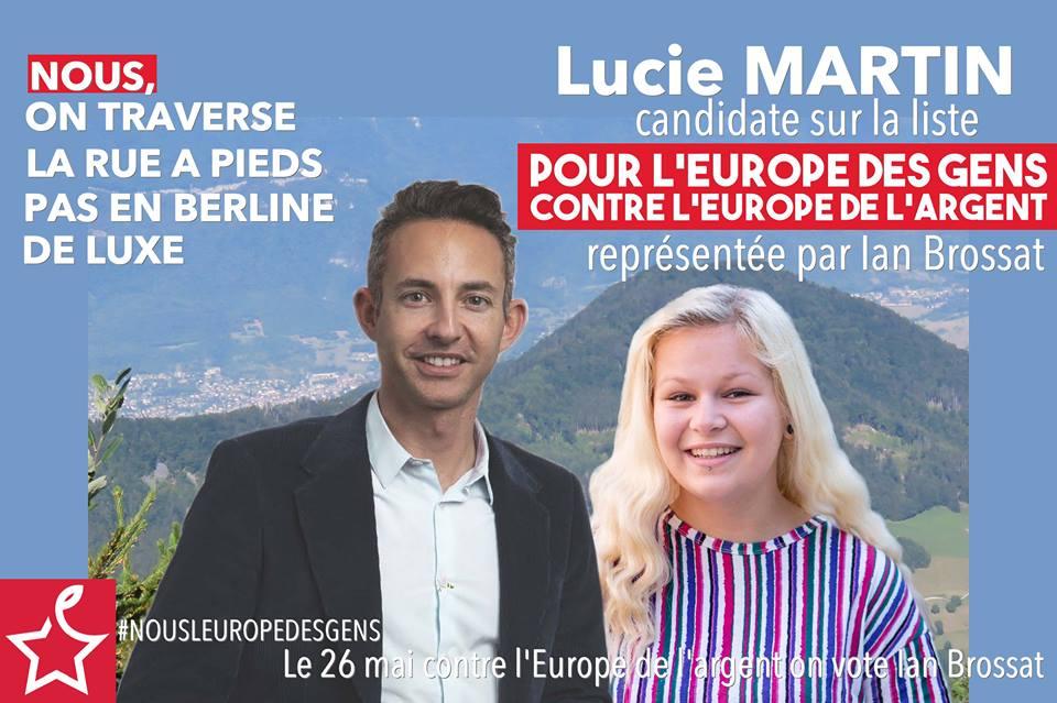 Lucie Martin candidate sur la liste de Ian Brossat