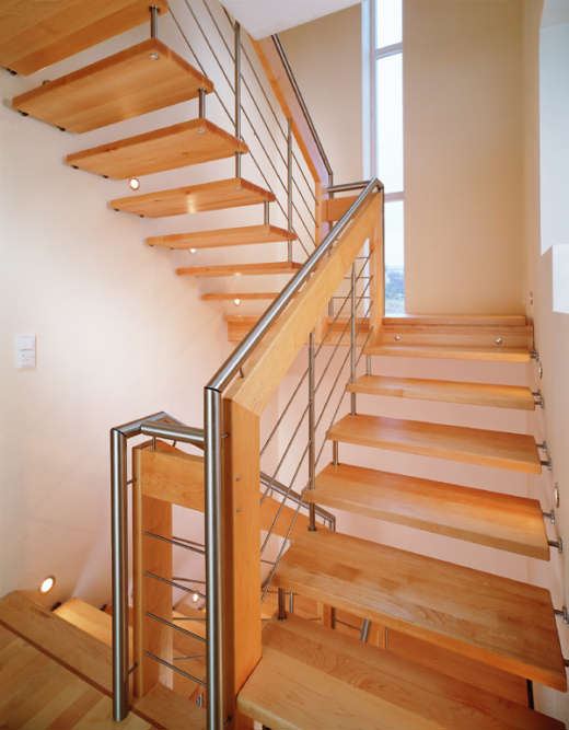 Wood staircase designs interior design ideas for Interior staircase designs