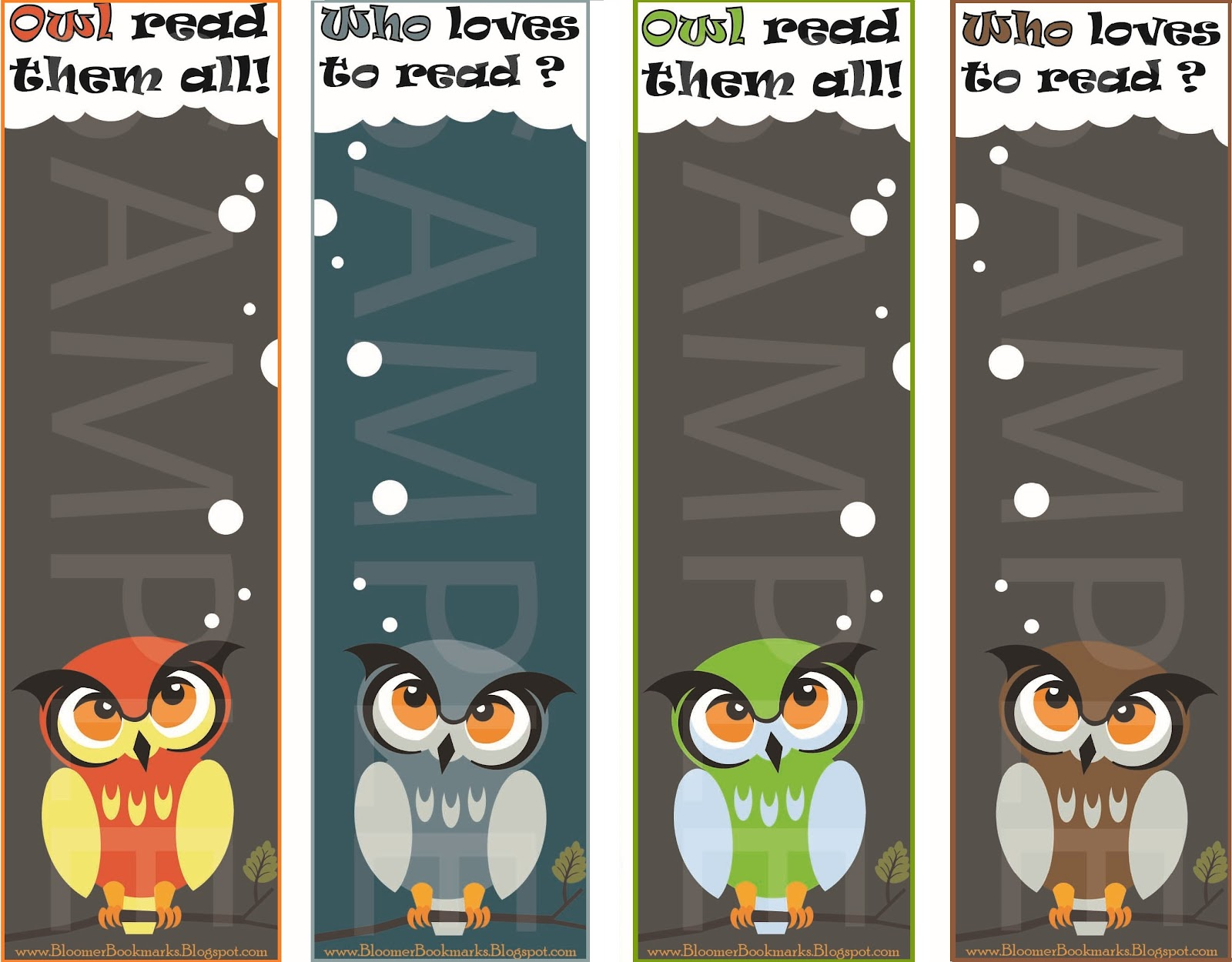 how to make a owl bookmark