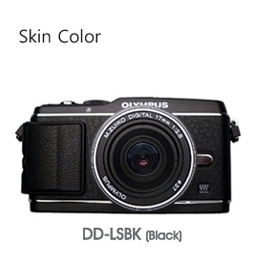 Gariz Du & Dus Leather Skin DD-LSBK for Olympus E-P3 Black