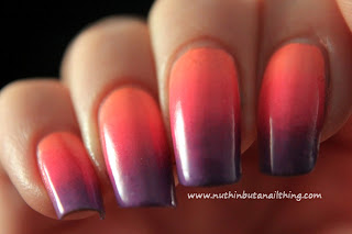 Coral, Pink and Purple Gradient