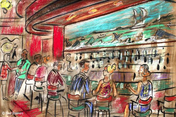 Javi de barranda y otros m s junio 2013 for Barra bar madera dibujo