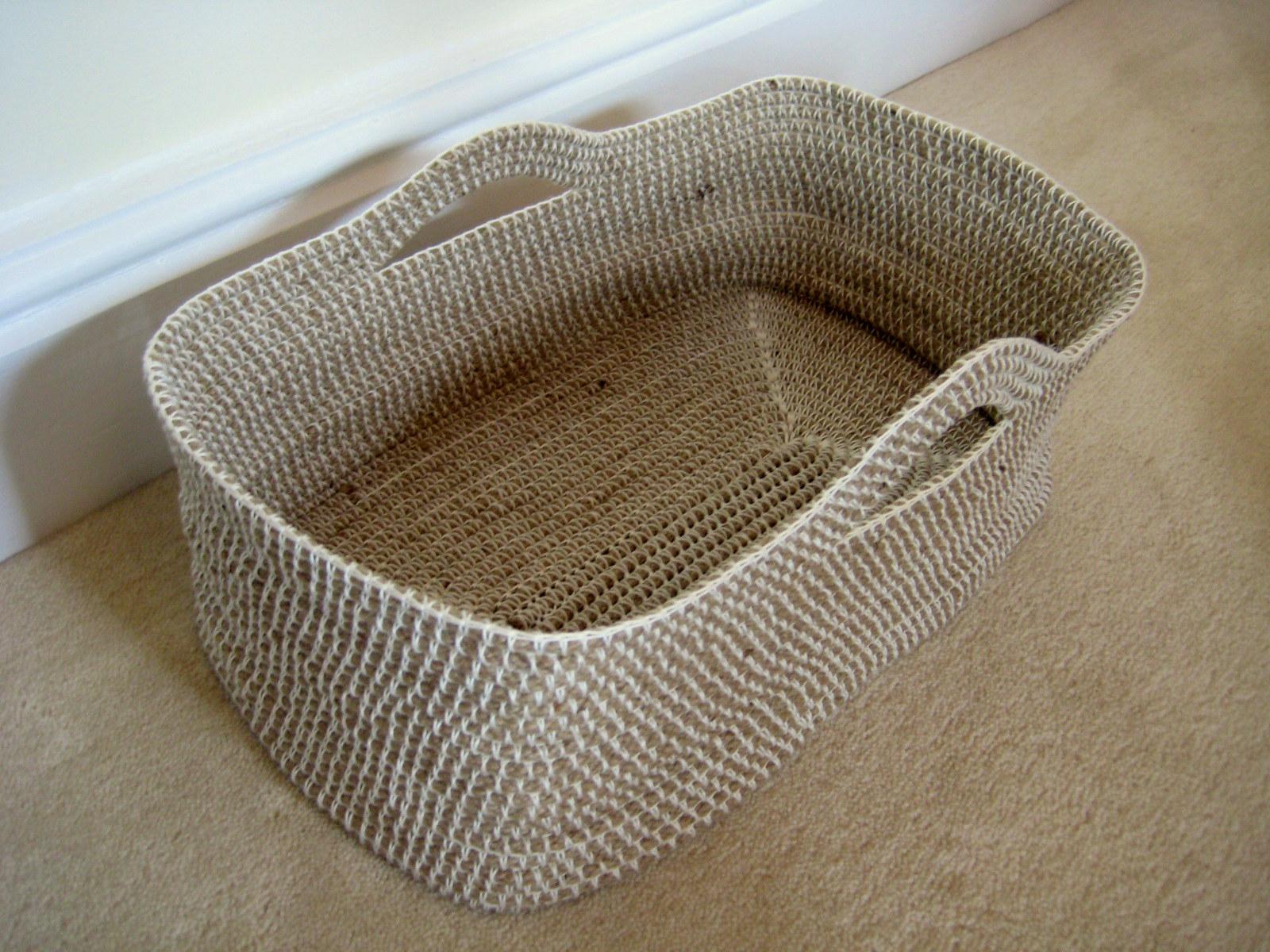 Crocheting Video Instructions : ... TRICOT-CROCHET: Mod?le gratuit : Un panier en corde et crochet