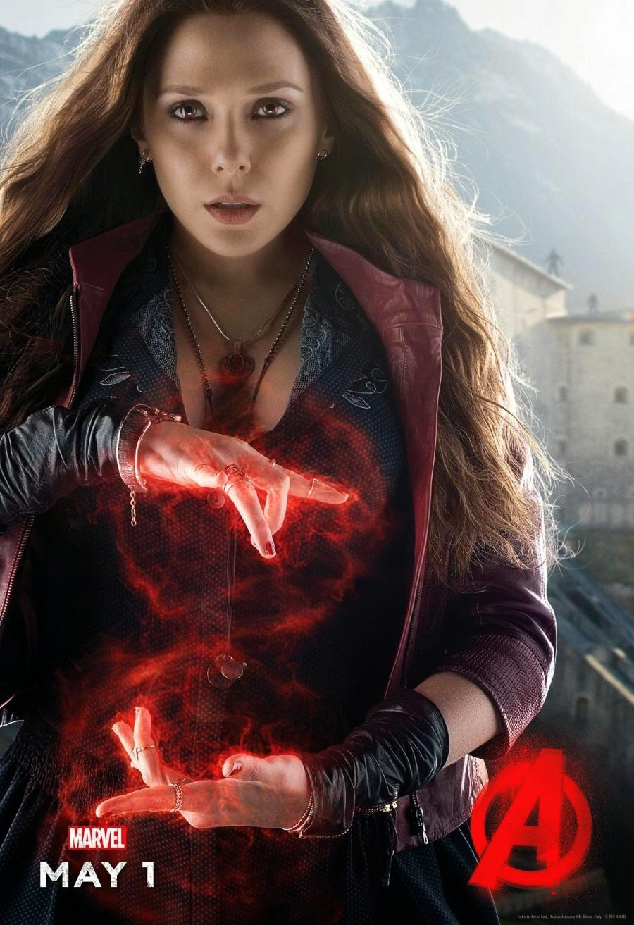 Marvel's Avengers Age of Ultron Character Movie Poster Set - Elizabeth Olsen as Scarlet Witch
