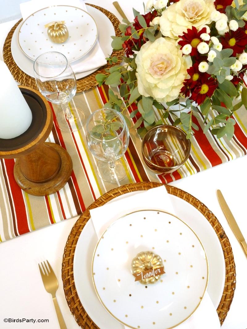 Modern DIY Thanksgiving Tablescape