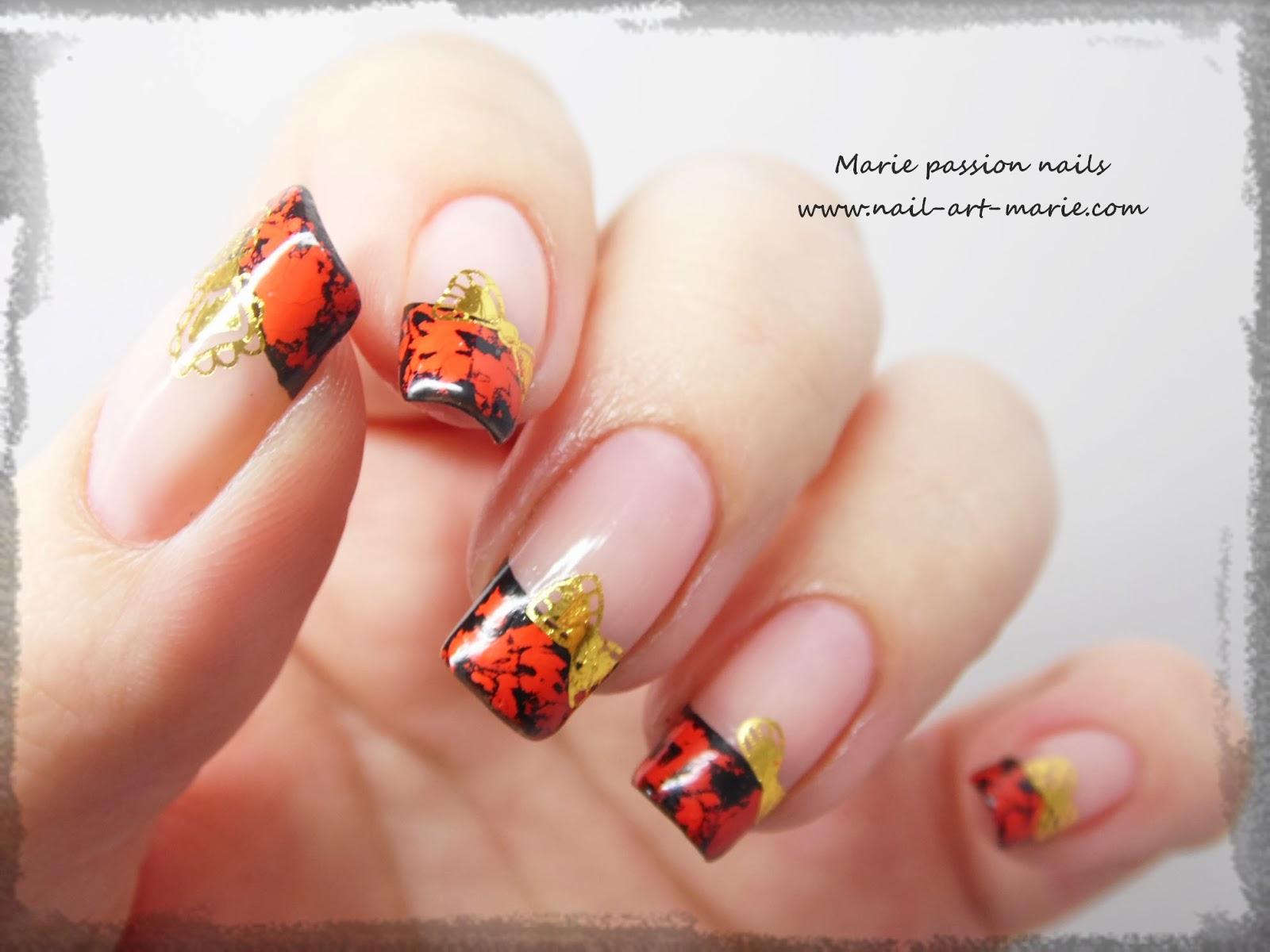 Nail Art avec craquelures de foils matte8