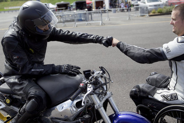 Paralyzed Bikers back on track, Paralyzed motorcyclists back on the track at Portland International Raceway