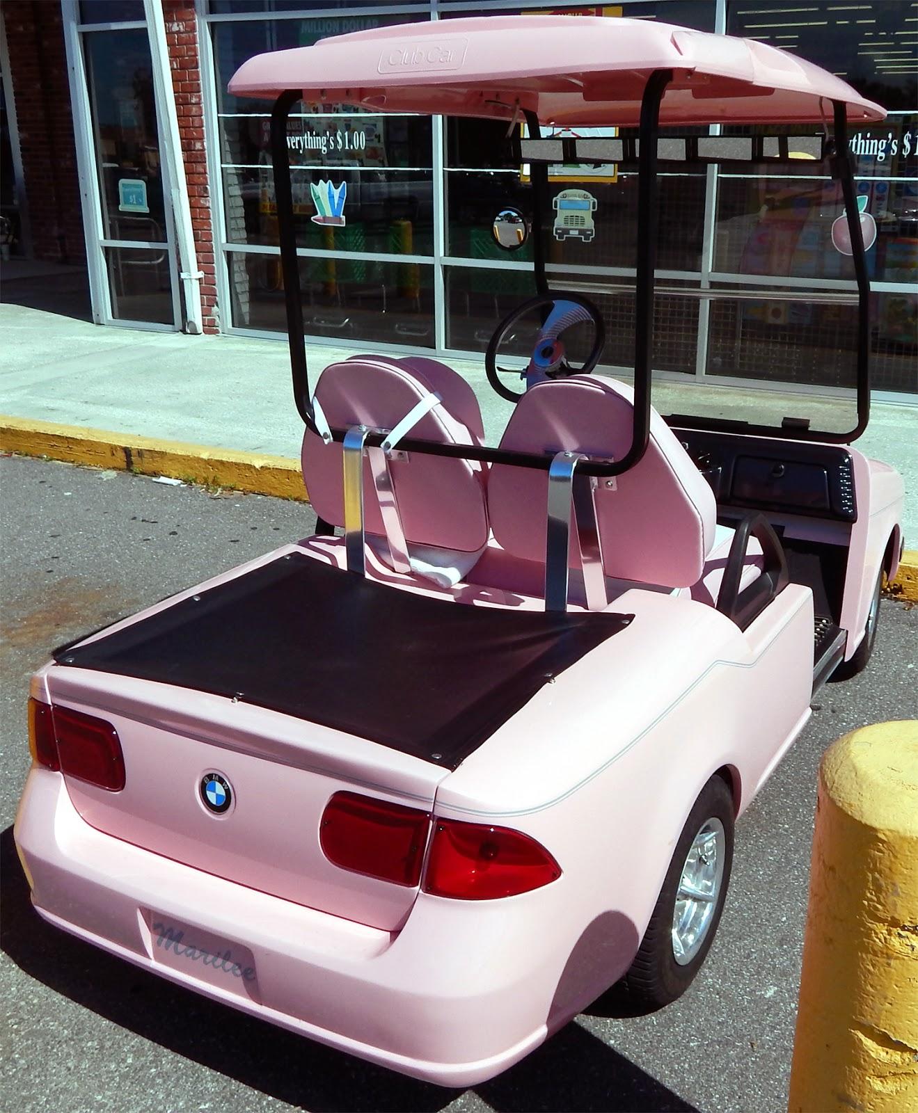 Pink Mary Kay BMW Club Car golf cart, Sun City Center Plaza Bmw Golf Cart Kit on garden cart kits, trailer kits, construction kits, go cart lift kits, golf carts vehicle, log splitter kits, bar stool cart kits, atv kits, parts kits, go cart light kits, golf pull carts clearance, golf carts like trucks, golf decorating ideas, hot tub kits, dune buggy kits, club cart lift kits, camper kits, air compressor kits, wheel kits, chopper kits,