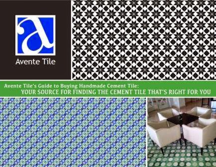 Avente Tile's Guide to Buying Handmade Cement Tile