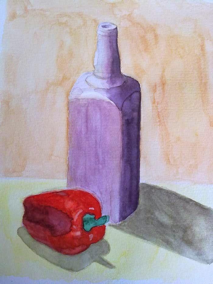 botella y pimiento