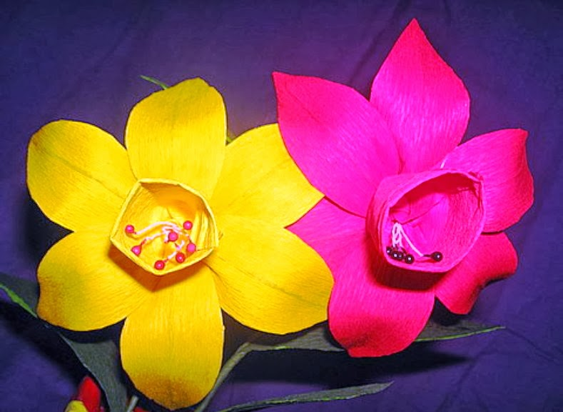Langkah Membuat Kerajinan Bunga Kertas