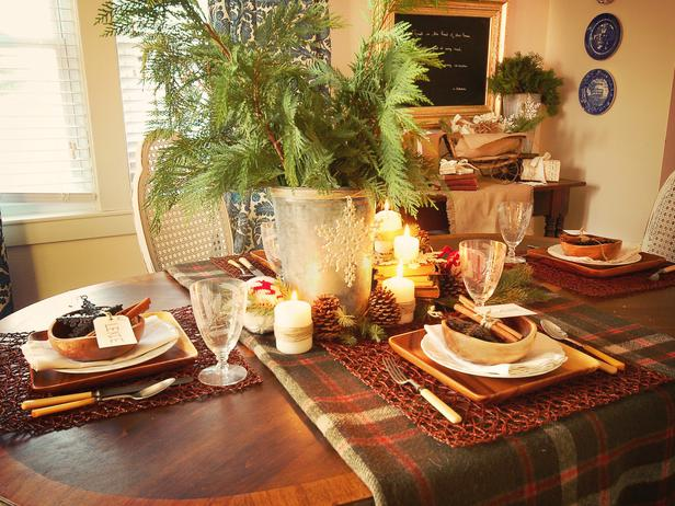 Rustic Christmas Table Decorations 2013 Ideas From HGTV