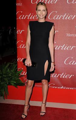 Charlize Theron Little Black Dress