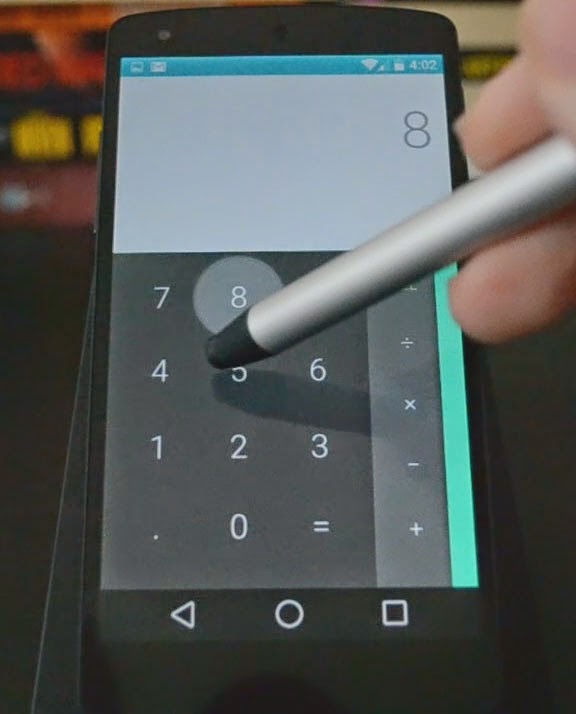 Nexus 5, running Android L calculator app
