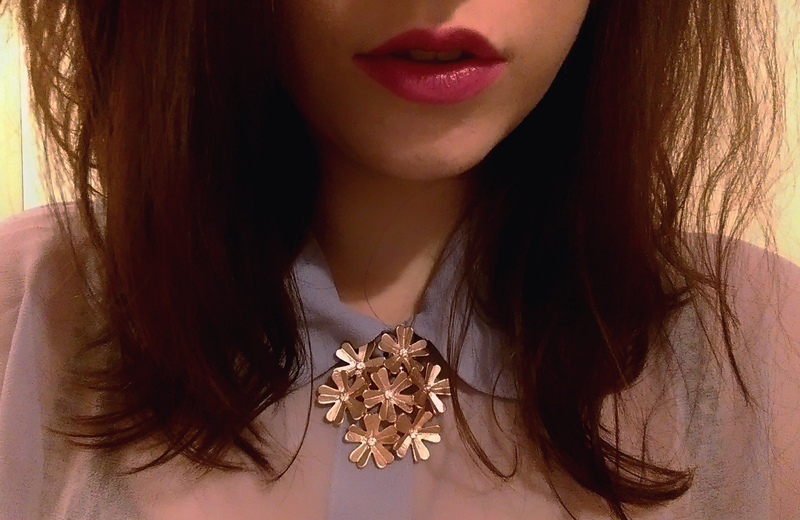Rose Gold Flower Necklace by August Woods