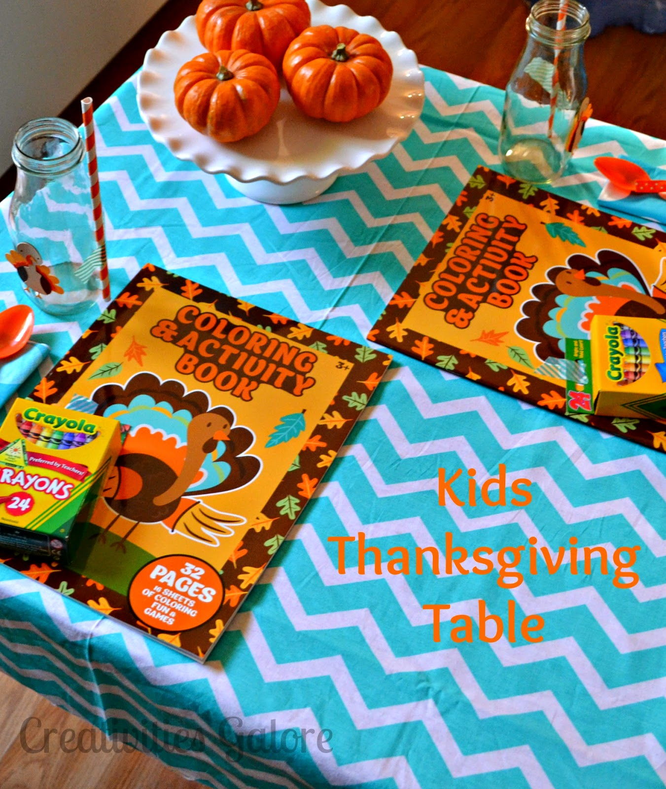 Creativities Galore: Kids Thanksgiving Table