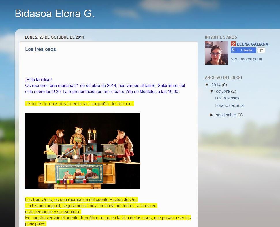 El Blog de Elena G.