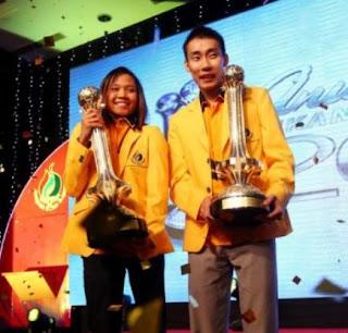 Datuk Lee Chong Wei dan Pandelela Rinong Olahragawan dan Olahragawati Kebangsaan 2012