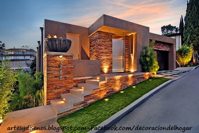 Fachadas de piedra para casas decoraci n del hogar dise o de interiores c mo decorar design - Materiales para fachadas de casas ...