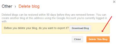 hapus blog,delete blog,erase blog,cara hapus blog,blog terhapus,how to delete blog