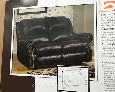 Take a seat and be comfortable on the Berkline Reclining Leather Loveseat