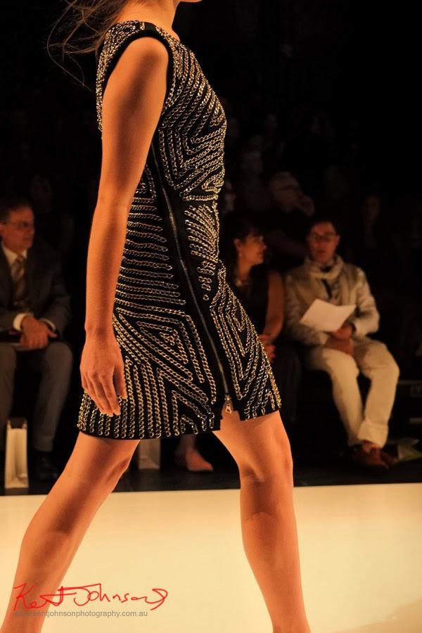 Stephanie McGuigan; Detail - New Byzantium : Raffles Graduate Fashion Parade 2013 - Photography by Kent Johnson.