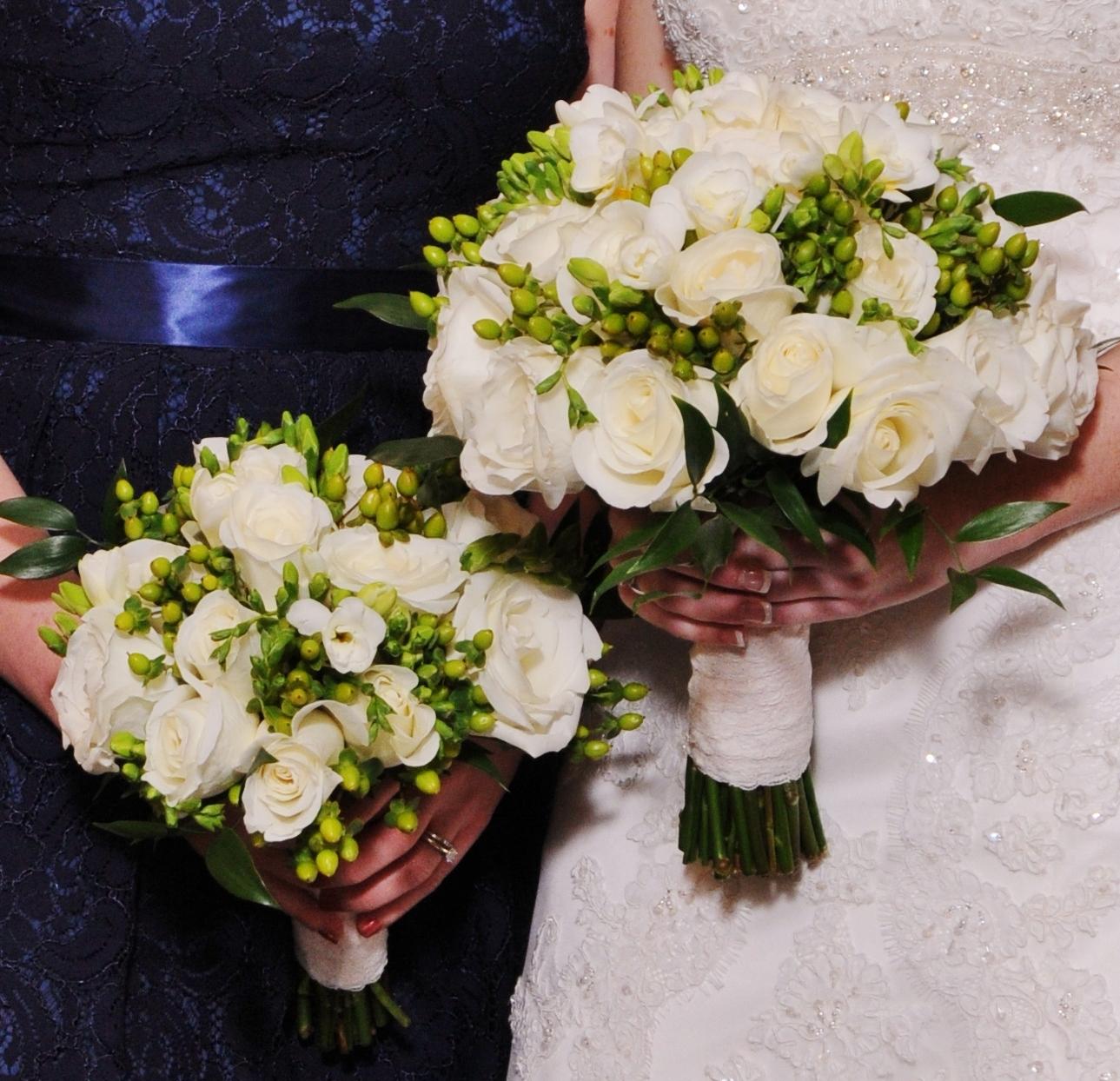 Elegant White Bridal Bouquet : Bonnieprojects elegant white and green wedding bouquets