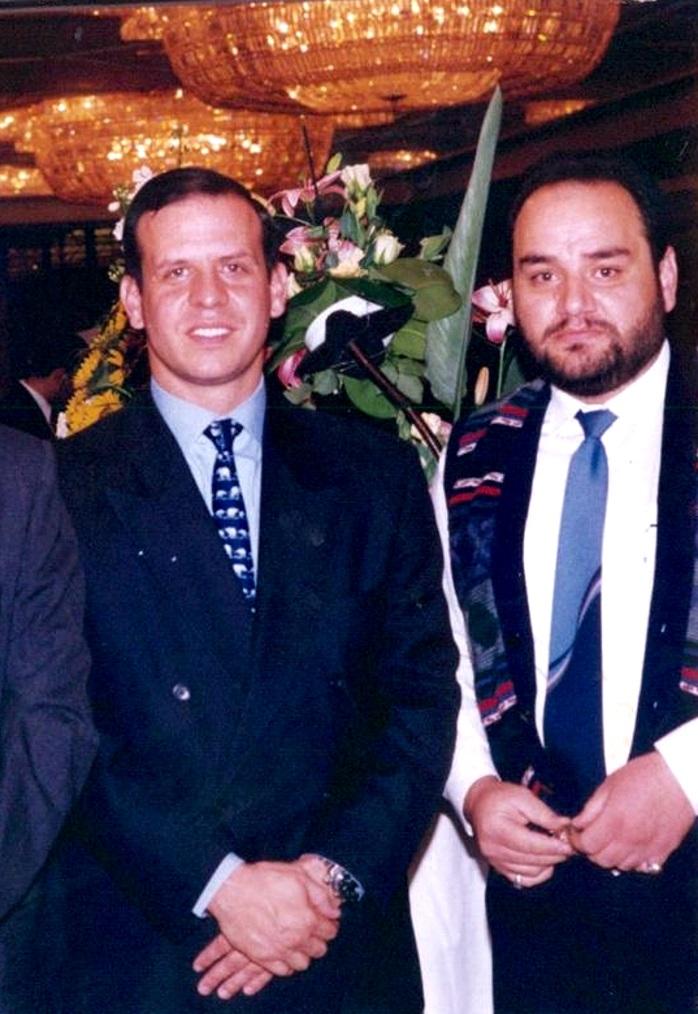 د. رشيد بن محمد الطوخي برفقة سمو الأمير فيصل بن الحسين