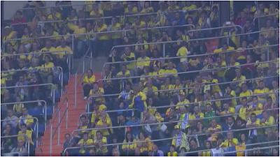 Afición canaria en el Bernabéu
