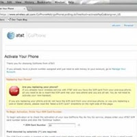 ATT Activation Phone Page
