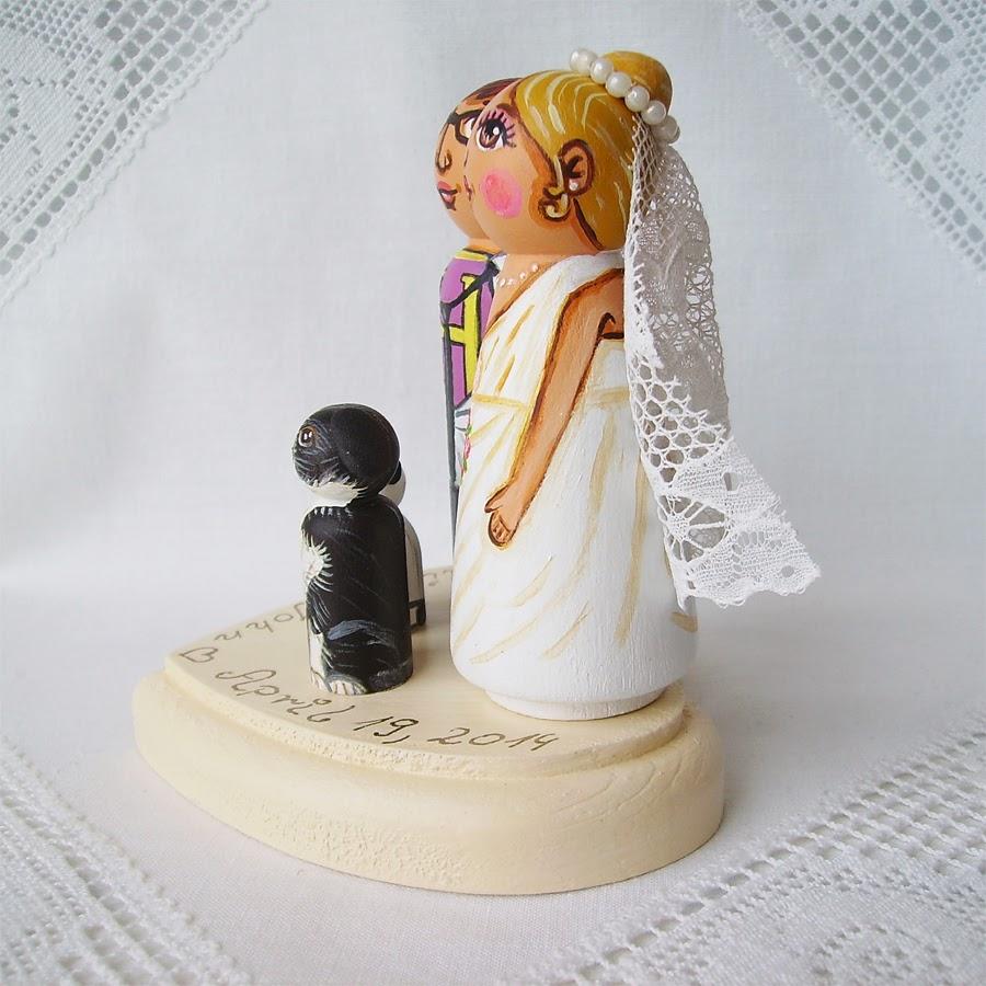 Personalizowane na zamówienie ręcznie malowane zdobione figurki ślubne figurka ozdoba na tort weselny ślubny tortu weselnego dekoracja tortu panna młoda pan młody nowożeńcy romantyczne eleganckie klasyczne tradycyjne
