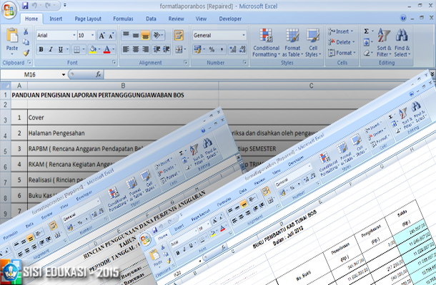 Contoh Lpj Bos Download Format Microsoft Excel Download