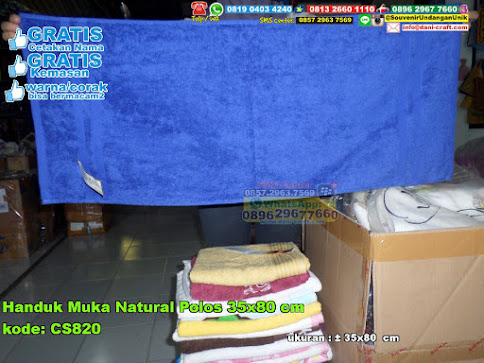 Handuk Muka Natural Polos 35x80 Cm