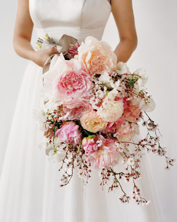 Above I just adore this bouquet Peonies Ranunculus are two of my