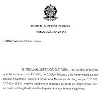 Resolução TSE 22.610/2007