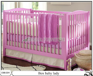 Tempat tidur balita box baby lady