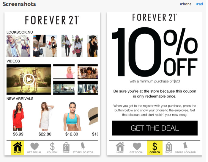 Forever 21 discount coupons