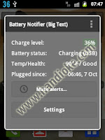 Battery Notifier Galaxy Y