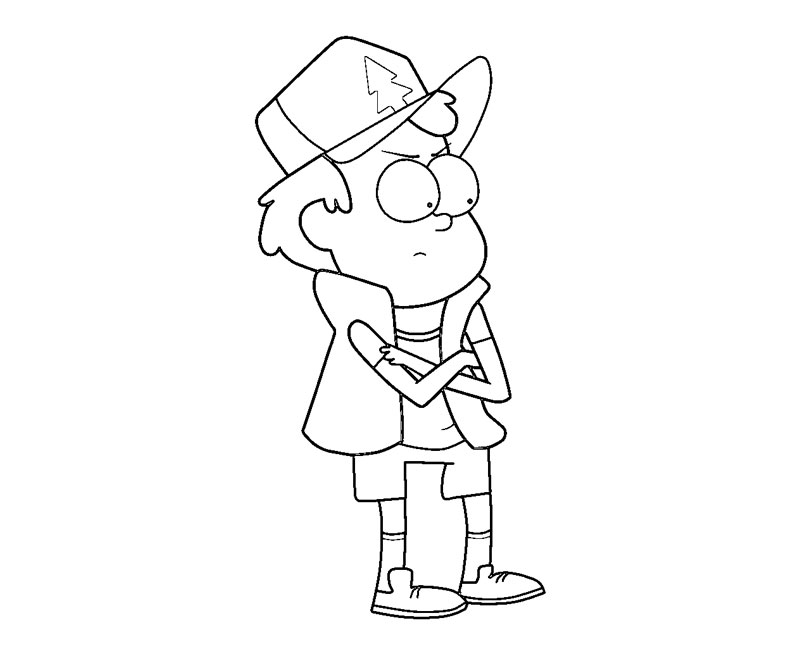 gravity falls coloring pages dipper - photo#7