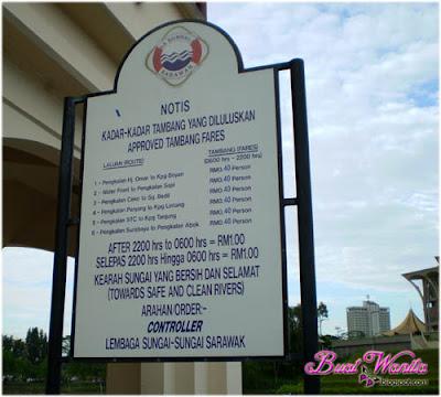 Tempat Menarik dan Best di Kuching Sarawak: Kuching Waterfront