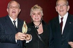M. Mario GIRO, Prix de la Fondation CHIRAC, Morgane BRAVO & M. Michel CAMDESSUS, ancien Directeur d