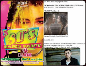 NYC: 80s party Wednesday , May 4th @ 10pm