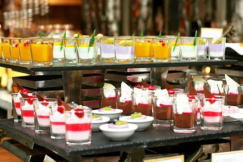 shot glass desserts Arabian Delights Buffet at Diamond Hotel's Corniche