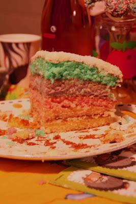 rainbow cake anniversaire