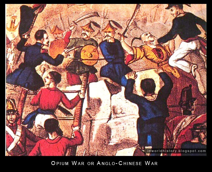 trade and opium war To most chinese, a century of humiliation began with this war, in which  along  with the slave trade, the traffic in opium was the dirty underside.
