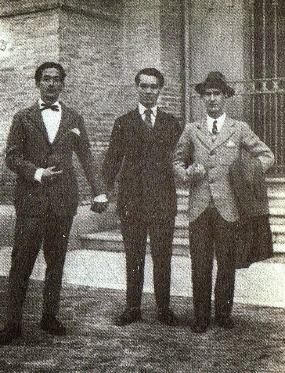 Lorca con Salvador Dalí y Pepín Bello