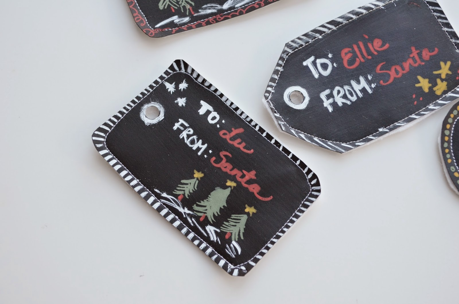 DIY Chalkboard Gift Tags Christmas