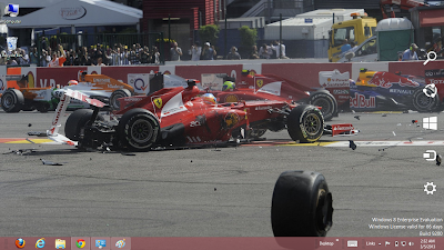 Fernando Alonso Formula 1 Theme For Windows 8