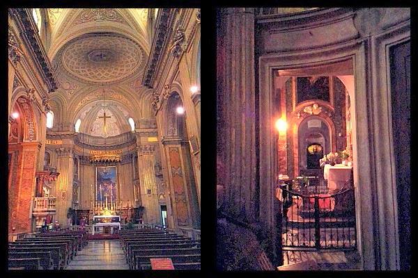 Wnętrze kościoła S. Eustachio