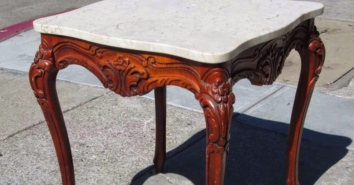 Uhuru furniture amp collectibles sold marble top french provincial end
